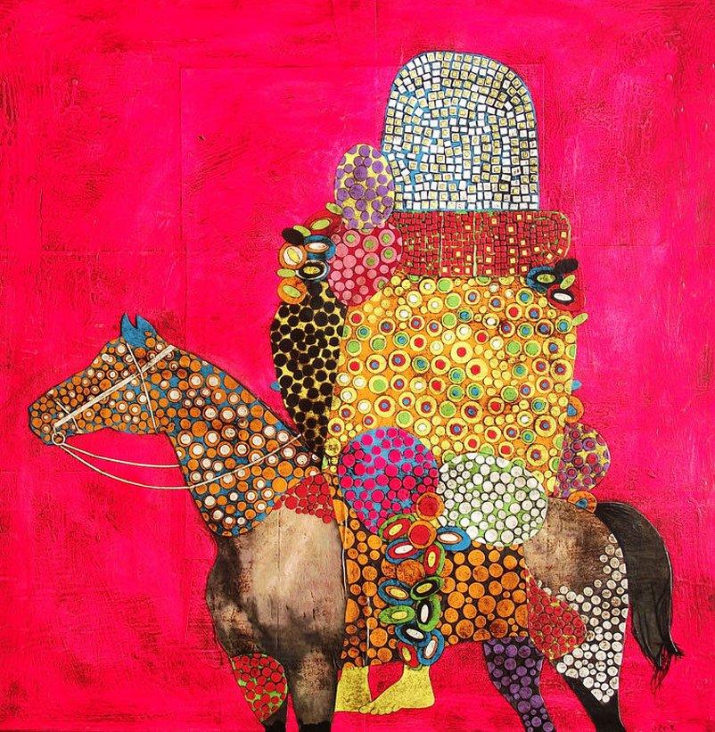 Gustavo Ortiz - Equestrian portrait I