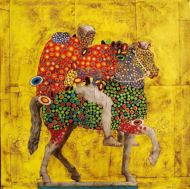 Gustavo Ortiz - Equestrian portrait II