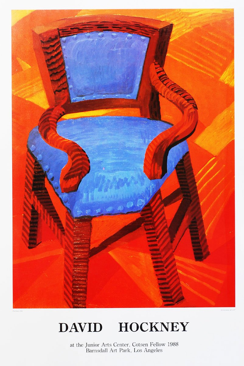David Hockney Chair Drawings David Hockney The Chair