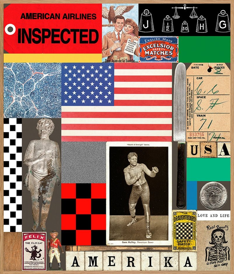 Peter Blake - USA Series, Boxer
