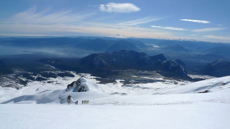 Sam Gare - Villarrica climb