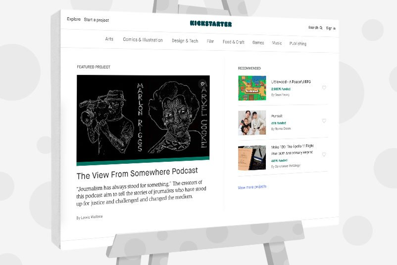 Kickstarter - Sell Art By Crowdfunding