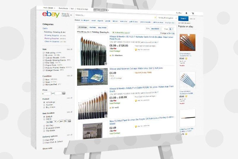 eBay - cheap art supplies