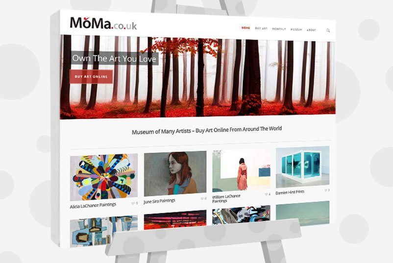 MoMa UK website
