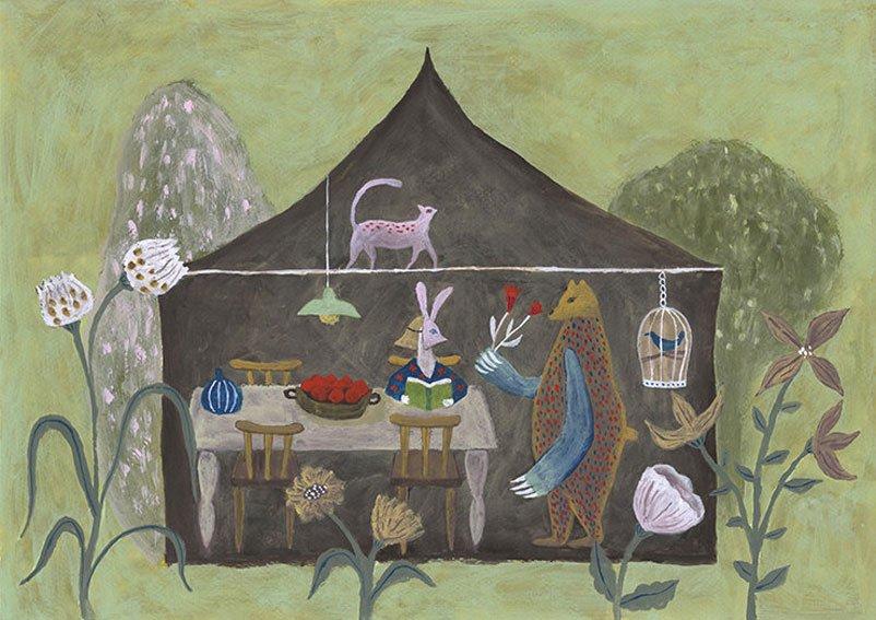 Tetsuhiro Wakabayashi Paintings - Visitor