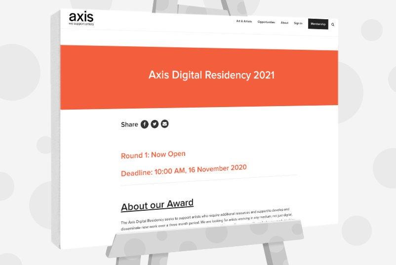 Axis Digital Residency 2021