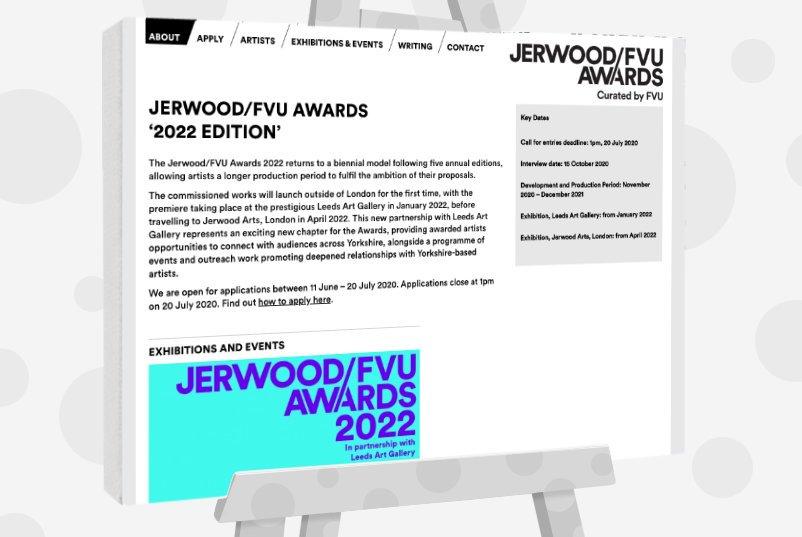 Jerwood FVU awards