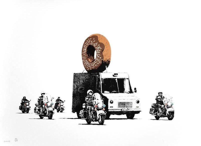 Banksy - Chocolate Donut