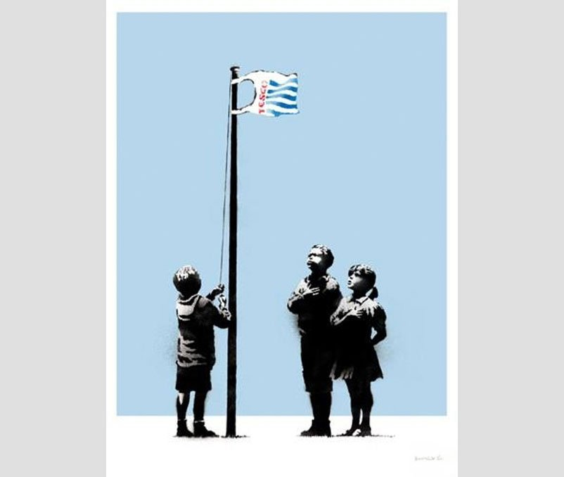 Banksy Prints - Very Little Helps (Signed Silkscreen)