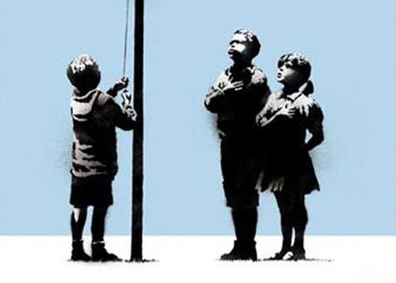 Banksy - Very Little Helps (Signed Silkscreen)