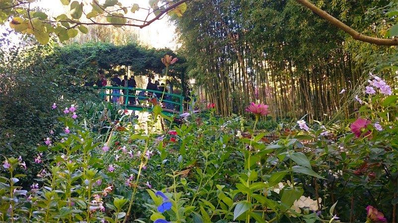 Giverny Japanese Foot Bridge - Monets Garden