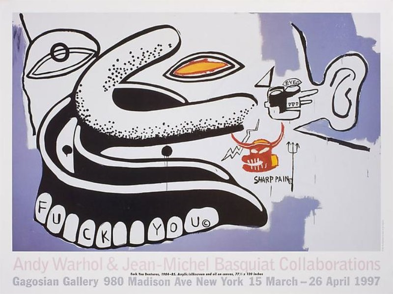 Andy Warhol & Jean-Michel Basquiat Collaborations Poster