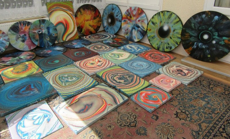 Andy Shaw - Spin Paintings