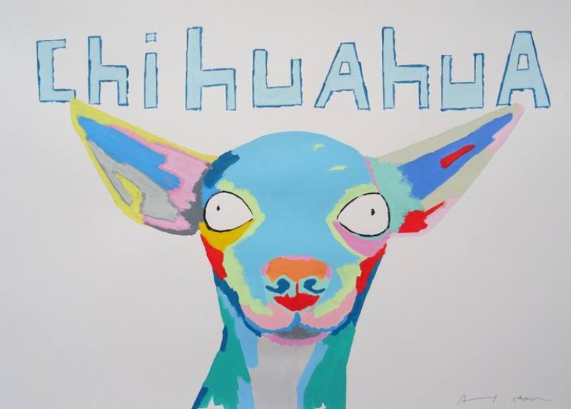 Chihuahua Painting by Andy Shaw