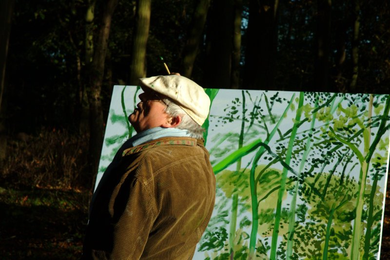 David Hockney - Painting Outdoors