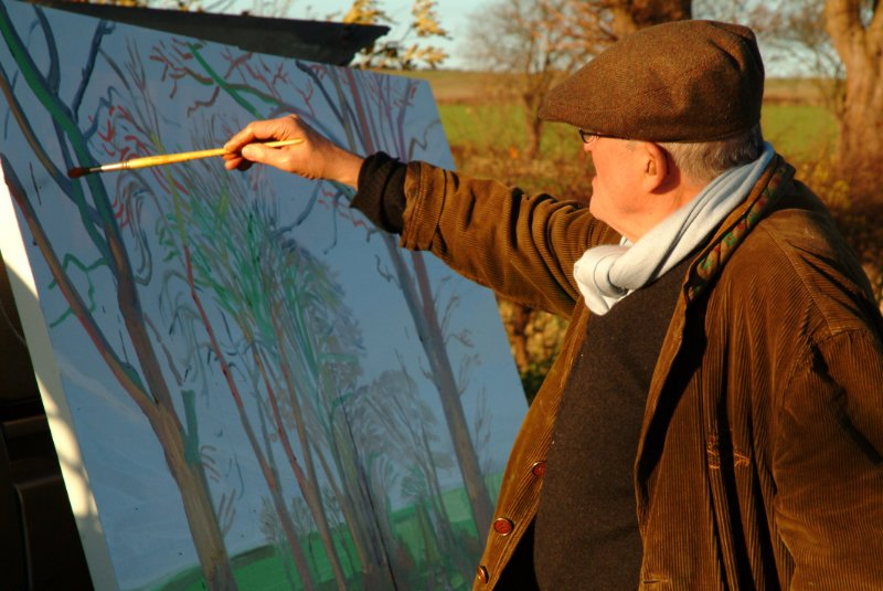 David Hockney - Painting trees in Yorkshire