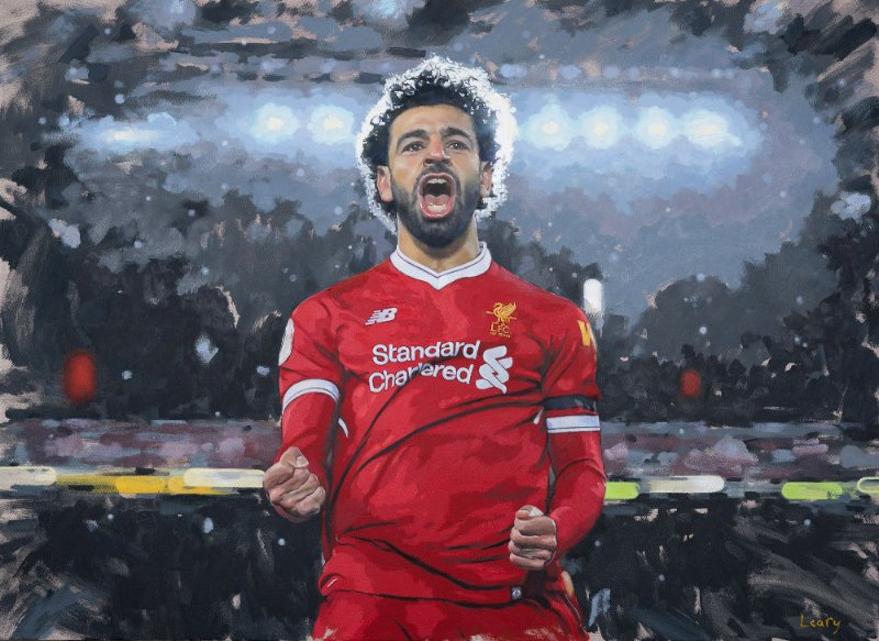 Kevin Leary - Mo Salah painting